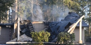 Jehovah , watchtower library , fire , kingdom hall